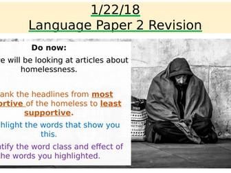 AQA Language Paper 2 - Q1 & Q2 - Homelessness