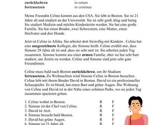 Meine Freundin Celine Beginner German Reading