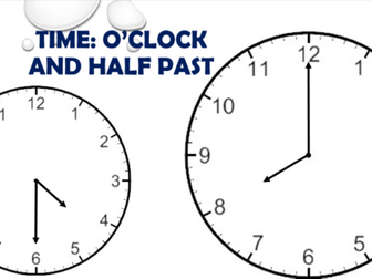 Time - O'Clock and Half Past!
