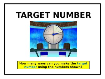 Target Number (with Countdown Music)