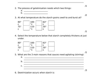 food science revision worksheets for aqa fpn by yanice29 teaching resources. Black Bedroom Furniture Sets. Home Design Ideas