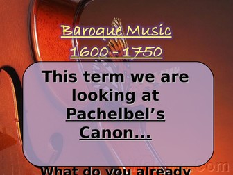 An introduction to Pachelbel's Canon and Baroque key terms