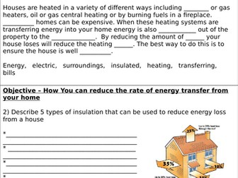 Heating and Insulating Buildings Homework