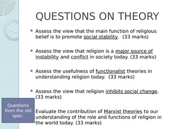 AQA Beliefs Functionalist View