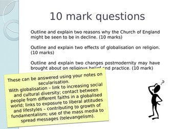 AQA Beliefs - The Secularisation Debate