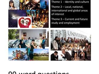New Spanish GCSE. Writing exam practice: 90-word questions