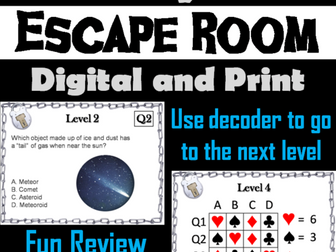 The Solar System: Science Escape Room