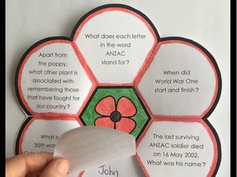 Anzac Day Craft and Quiz