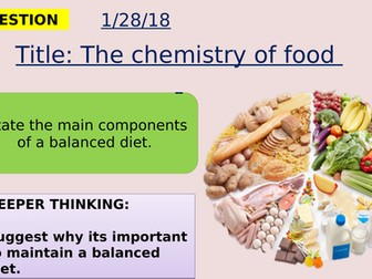 AQA new specification-The chemistry of food-B3.3
