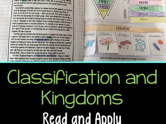 Classification Hierarchy and Kingdoms Read and Apply
