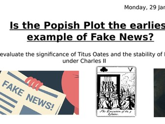 Were the Popish plots the earliest example of Fake News?