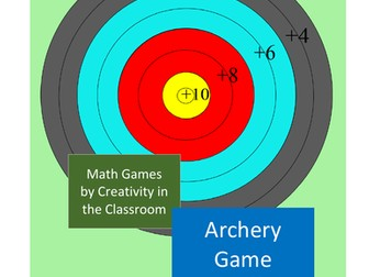 Math Archery - Addition and Subtraction - Up to 4 Digits
