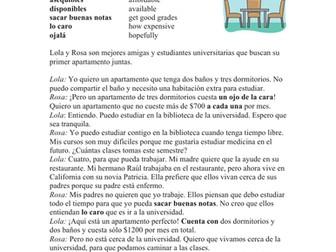 Spanish Subjunctive Reading - Lectura en Subjuntivo - El apartamento perfecto