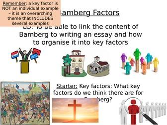 Edexcel: 33: Witch hunts: Depth 3: Bamberg: Key Factors
