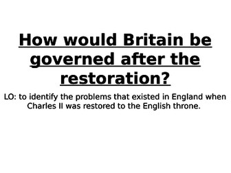 Charles II and the Restoration