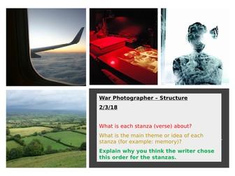 War Photographer - Structure