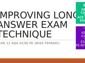 AQA GCSE PE IMPROVING LONG ANSWER EXAM TECHNIQUE & STRUCTURE