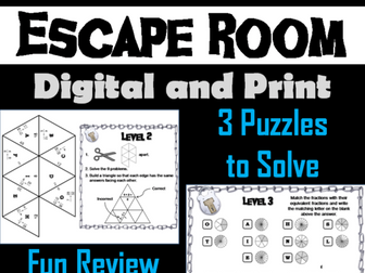 Equivalent Fractions: Math Escape Room