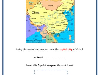 China - Map work & compass points