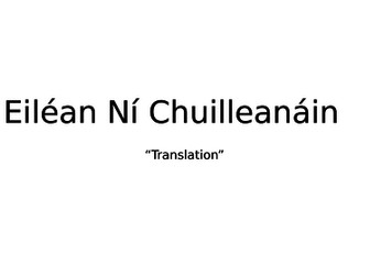 """Eiléan Ní Chuilleanáin """"Translation"""". Summary and analysis."""