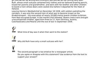 Kinderstransport Fact File UKS2