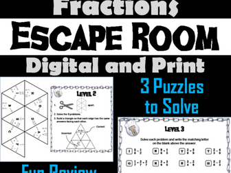 Adding and Subtracting Fractions Game: Escape Room Math Activity