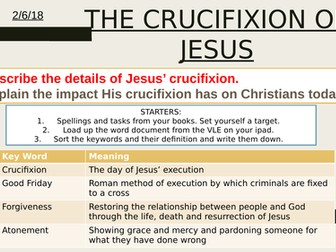Lesson on the Crucifixion