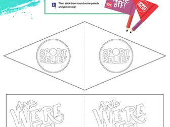 Sport Relief 2018: Pencil Flags