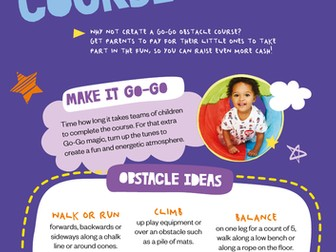 Sport Relief 2018: Go Go obstacle Course activity sheet