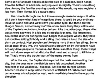 The Hunger Games: AQA Language Paper 1 Section A