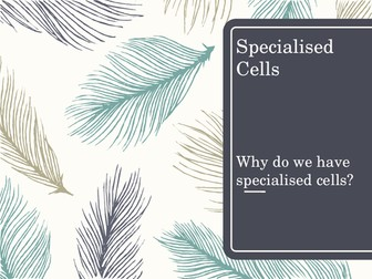 Specialised Cells - selecting information and developing an explanation