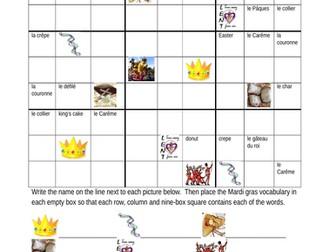 Mardi Gras French Sudoku