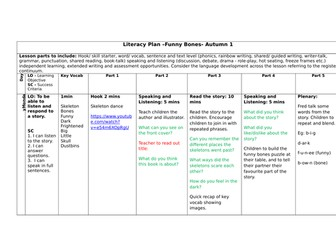 Funny Bones Literacy Plan