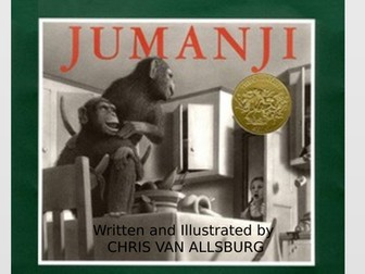 Set of 5 RIC whole class reading sessions, stimuli include Jumanji PPT, info poster, poem, videos.