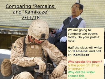 Power and Conflict - Comparing Remains and Kamikaze