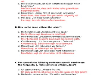 Indirect Speech in German with Konjunktiv 1 and 2 by regeniter ...