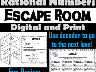 Adding and Subtracting Rational Numbers:  Math Escape Room