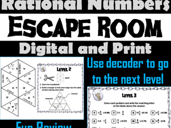 Multiplying and Dividing Rational Numbers: Math Escape Room