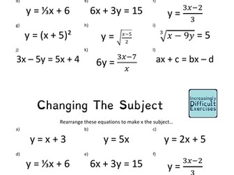 Increasingly Difficult Questions - Changing the Subject