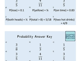 Increasingly Difficult Questions - Probability