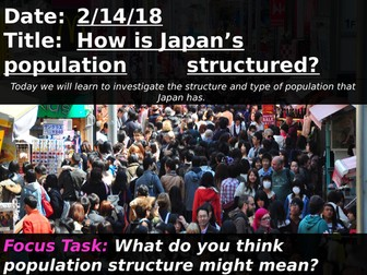 How is Japan's population structured?