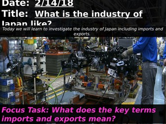 What is the industry of Japan like?