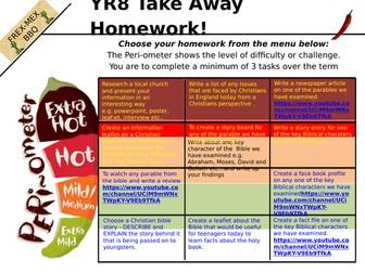 year 8 take away homework