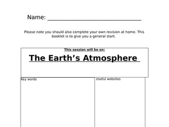 Atmosphere and evolving atmosphere revision