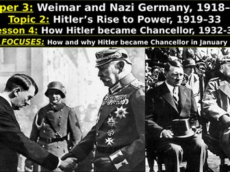 Edexcel Weimar & Nazi Germany, Topic 2: Hitler's Rise to Power, L4: How Hitler became Chancellor