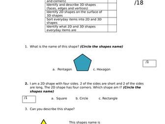 Year 2 shape assessment
