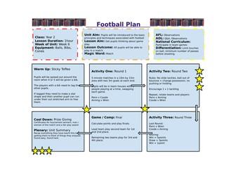 Year 2 - Football Unit