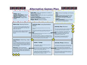 Year 5/6 Alternative Games Unit Of Work
