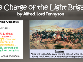 The Charge of the Light Brigade - Alfred, Lord Tennyson - Double Lesson!