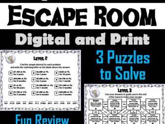 Simple Interest: Math Escape Room